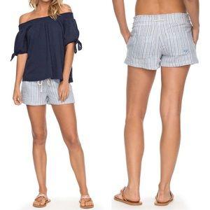 ROXY Oceanside Yarn-Dyed Drawstring Shorts Large
